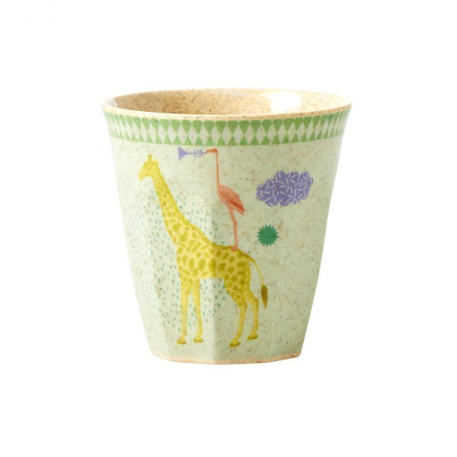 Rice A/S Kids Bamboo Small Melamine Cup W. Boys Animal Print Muki