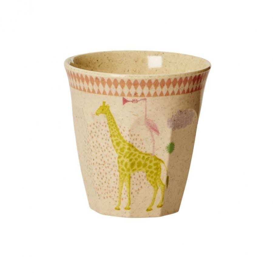 Rice A/S Kids Bamboo Small Melamine Cup W. Girls Animal Print Muki