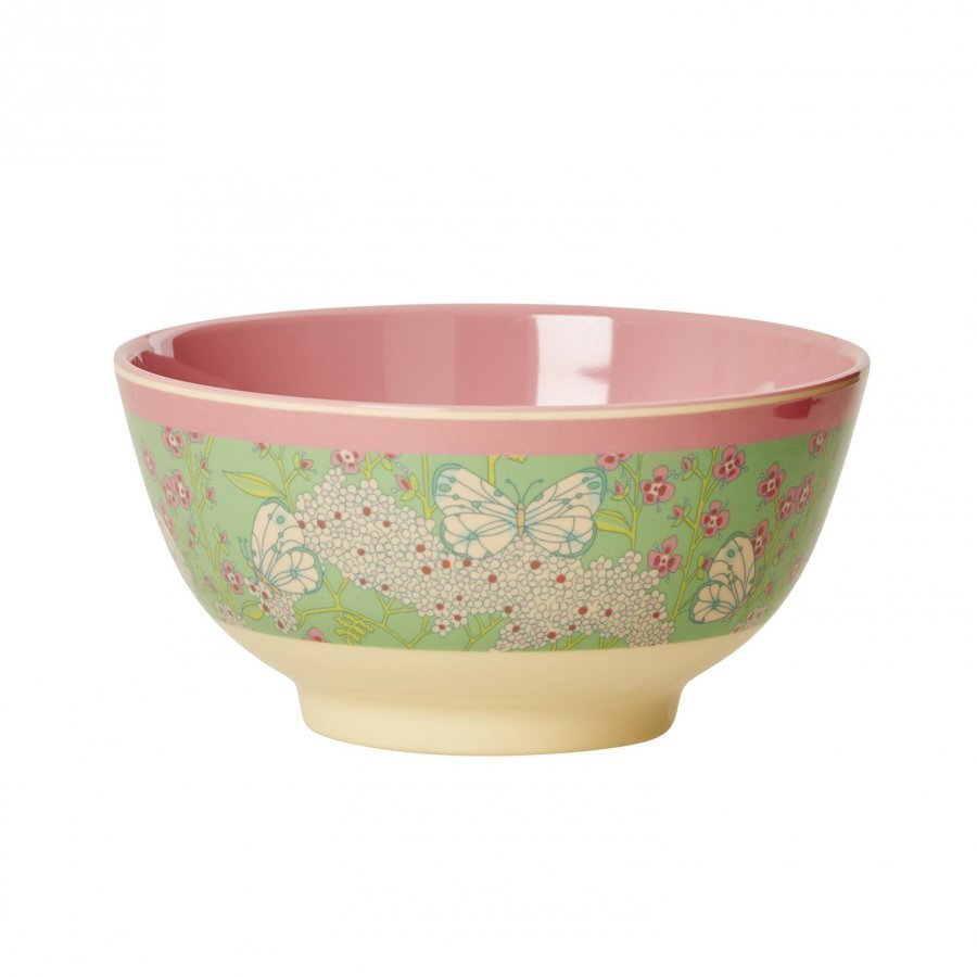 Rice A/S Melamine Bowl Butterfly Print Kulho