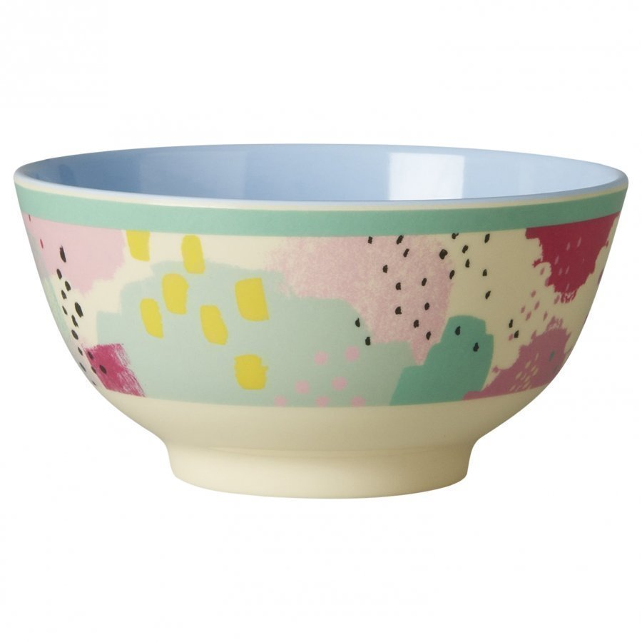 Rice A/S Melamine Bowl Two Tone With Splash Print Kulho