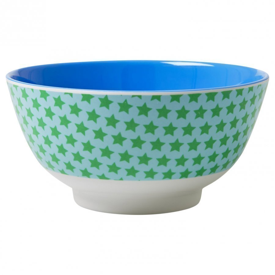 Rice A/S Melamine Bowl Two Tone With Star Print Kulho
