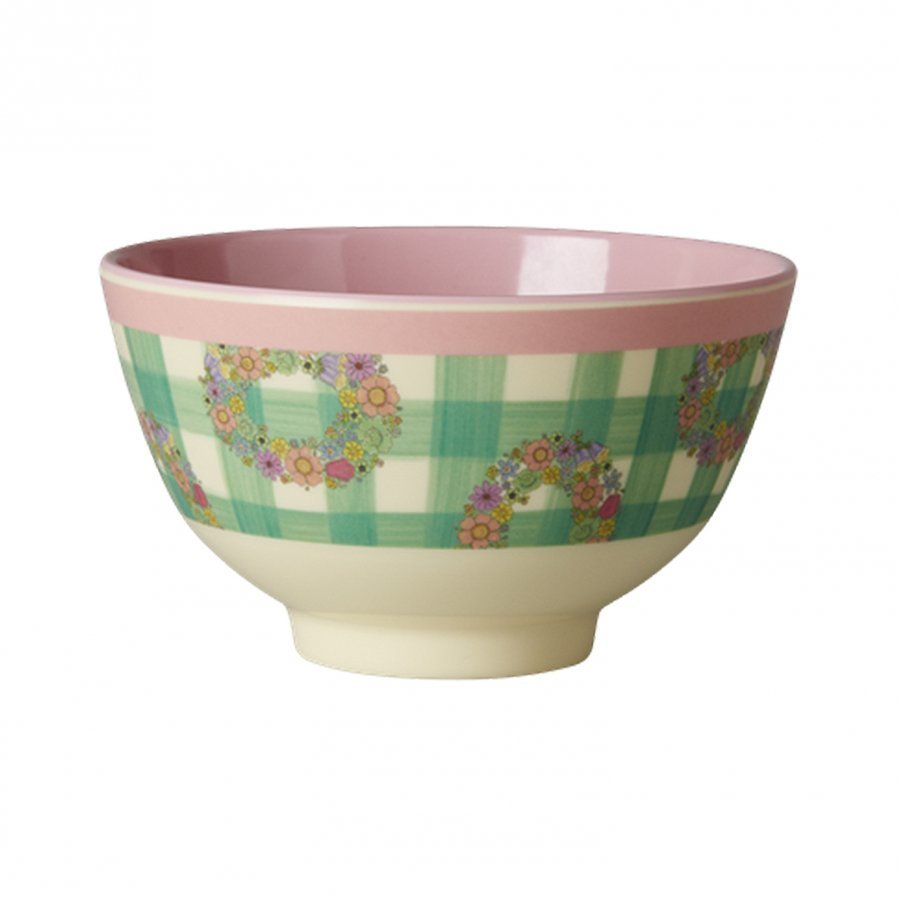 Rice A/S Melamine Bowl With Vichy Print Kulho