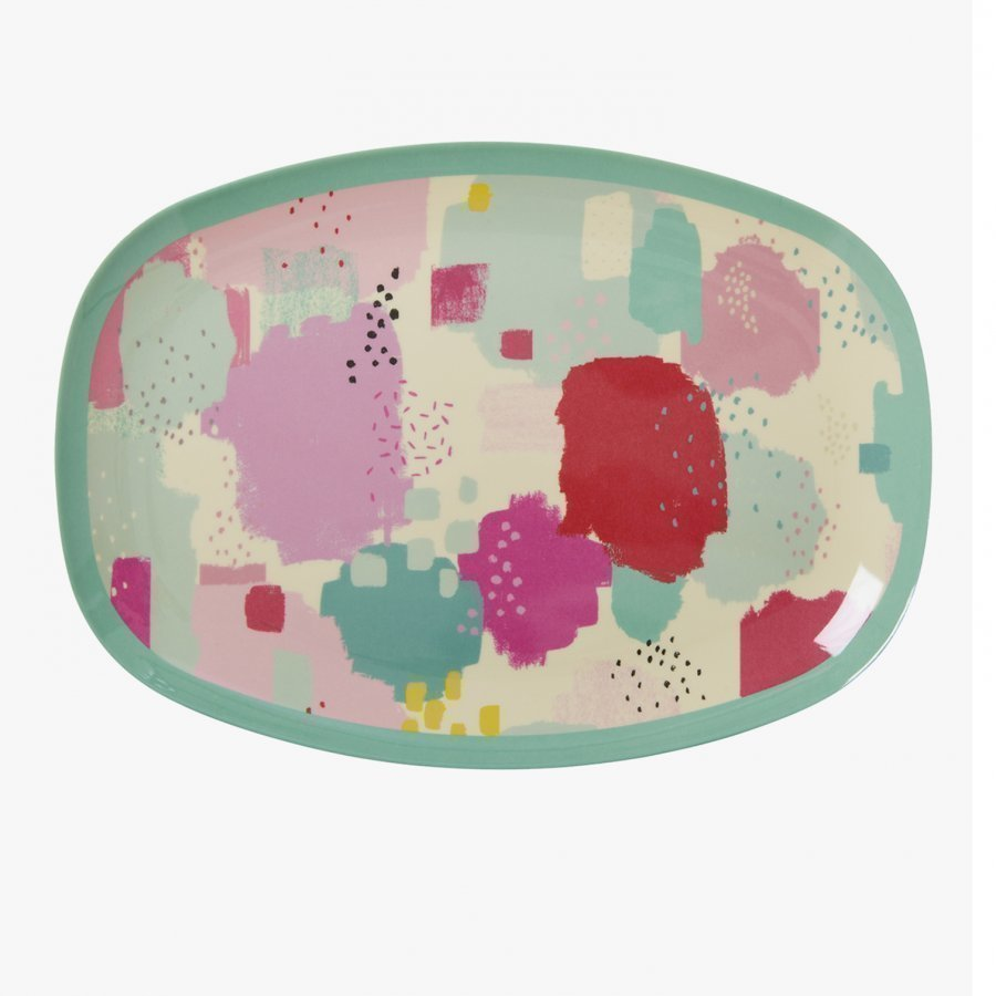 Rice A/S Rectangular Melamine Plate With Splash Print Lautanen