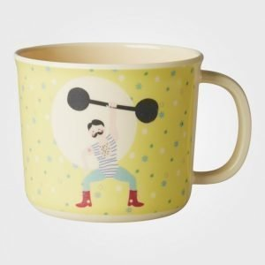 Rice Baby Melamine Cup With Boy Circus Print Yellow Nokkamuki