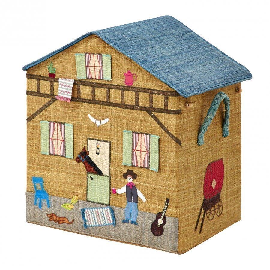 Rice Large Cowboy Foldable Toy Basket Säilytyslaatikko
