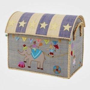 Rice Medium Raffia Circus Basket Säilytyslaatikko