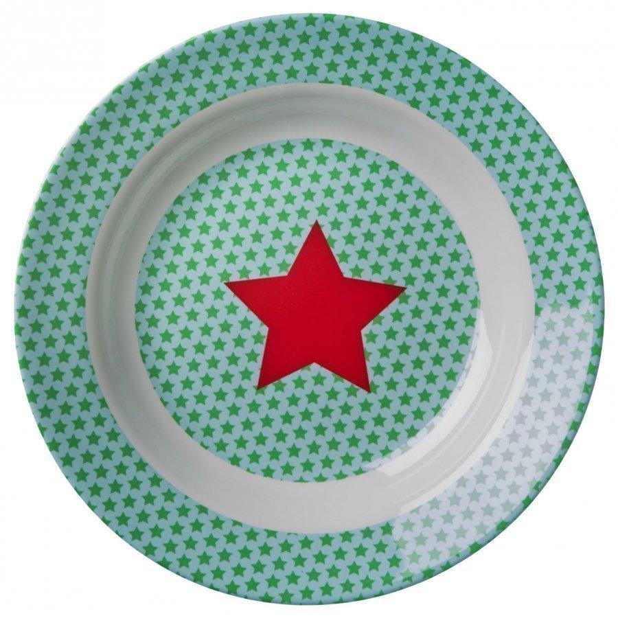 Rice Melamine Bowl Blue Star Print Kulho