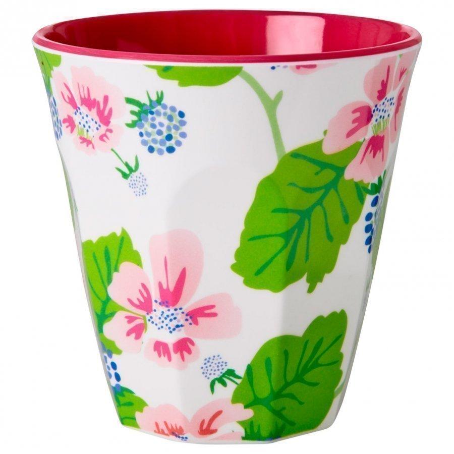 Rice Melamine Cup Blossoms & Berries Nokkamuki