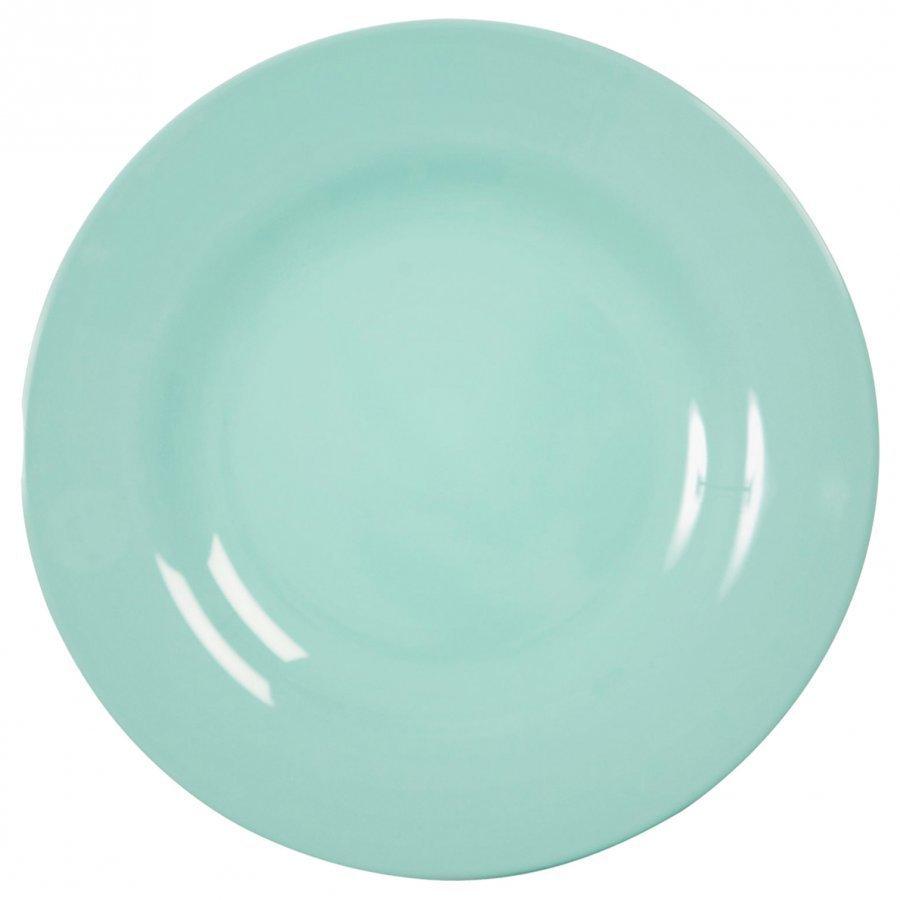 Rice Melamine Round Side Plate Dark Mint Lautanen