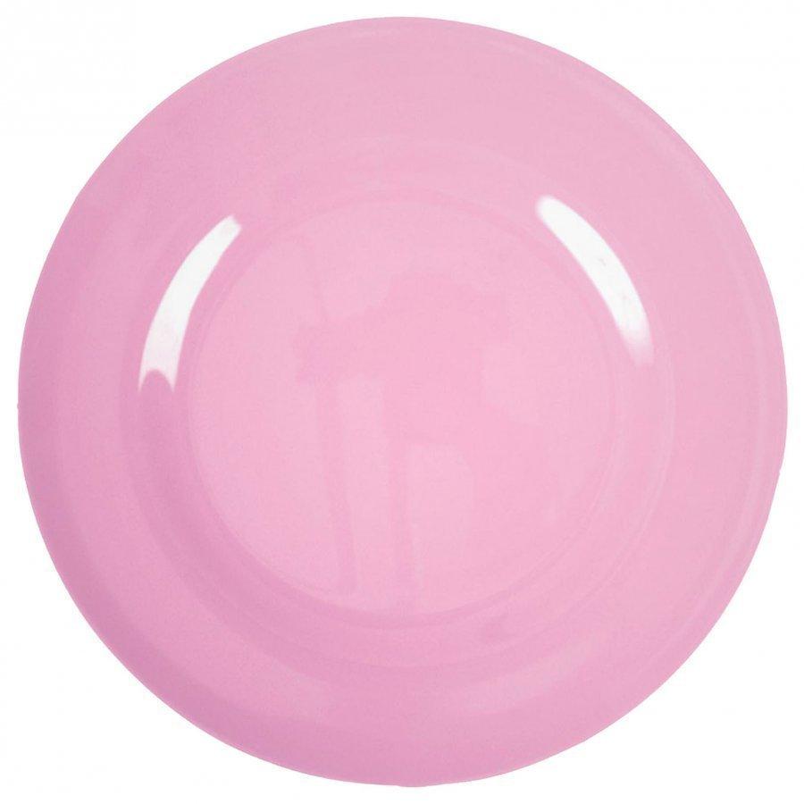 Rice Melamine Round Side Plate Dark Pink Lautanen