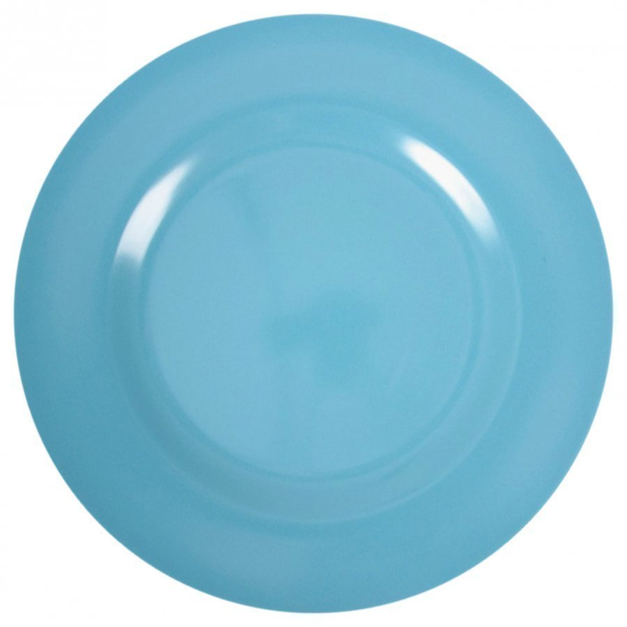 Rice Melamine Round Side Plate Turquoise Lautanen