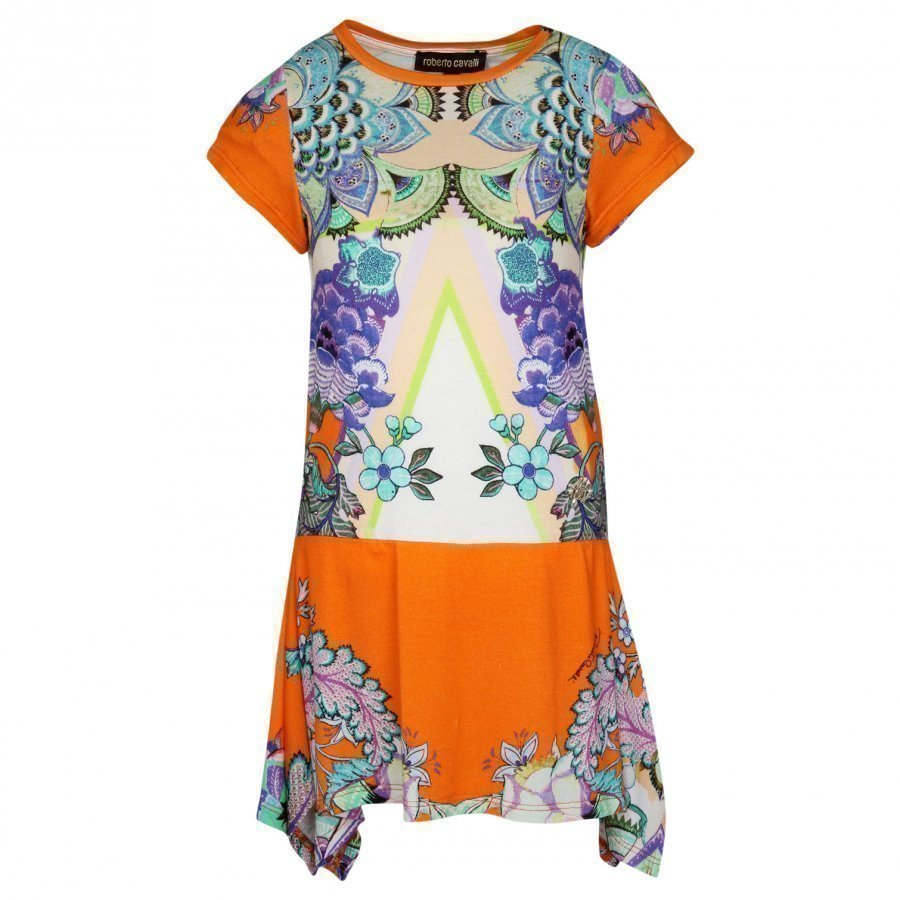 Roberto Cavalli Dress White/Orange Mekko