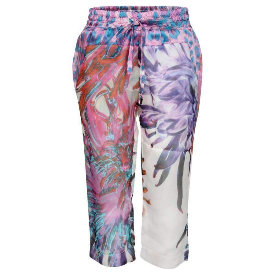 Roberto Cavalli Pants White/Colourful Housut