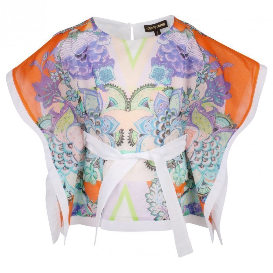 Roberto Cavalli Shirt White/Orange Kauluspaita