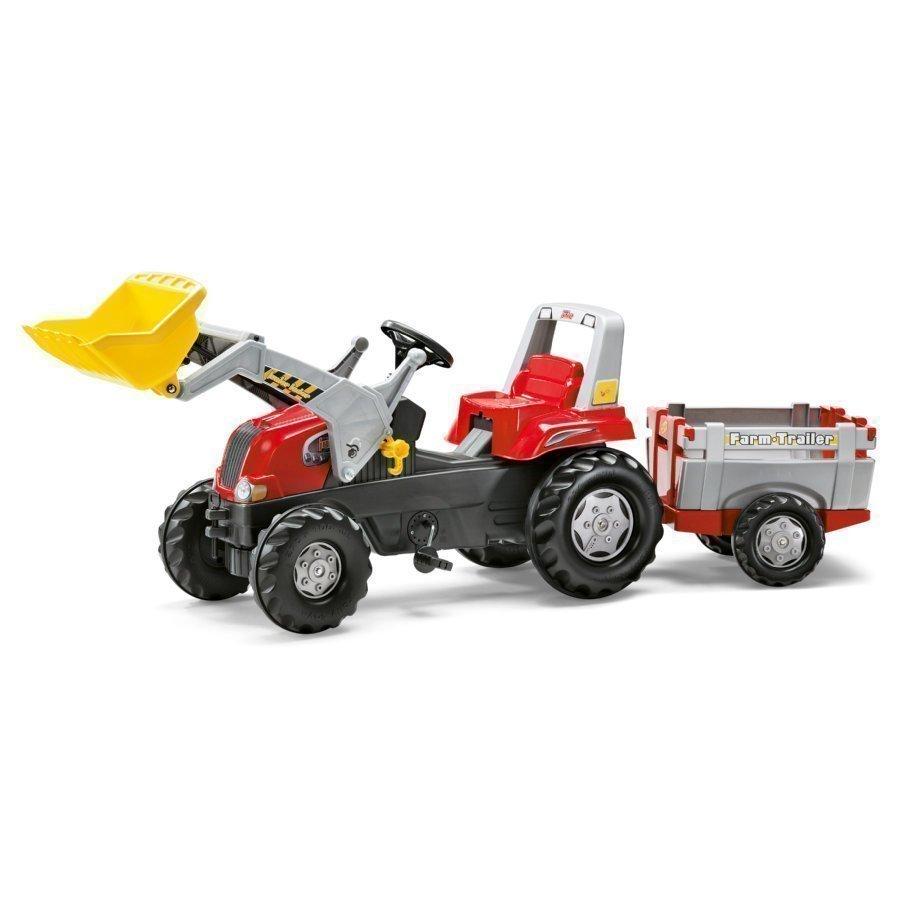 Rolly Toys Rollyjunior Traktori Perälavalla Ja Etukauhalla Rt 811397