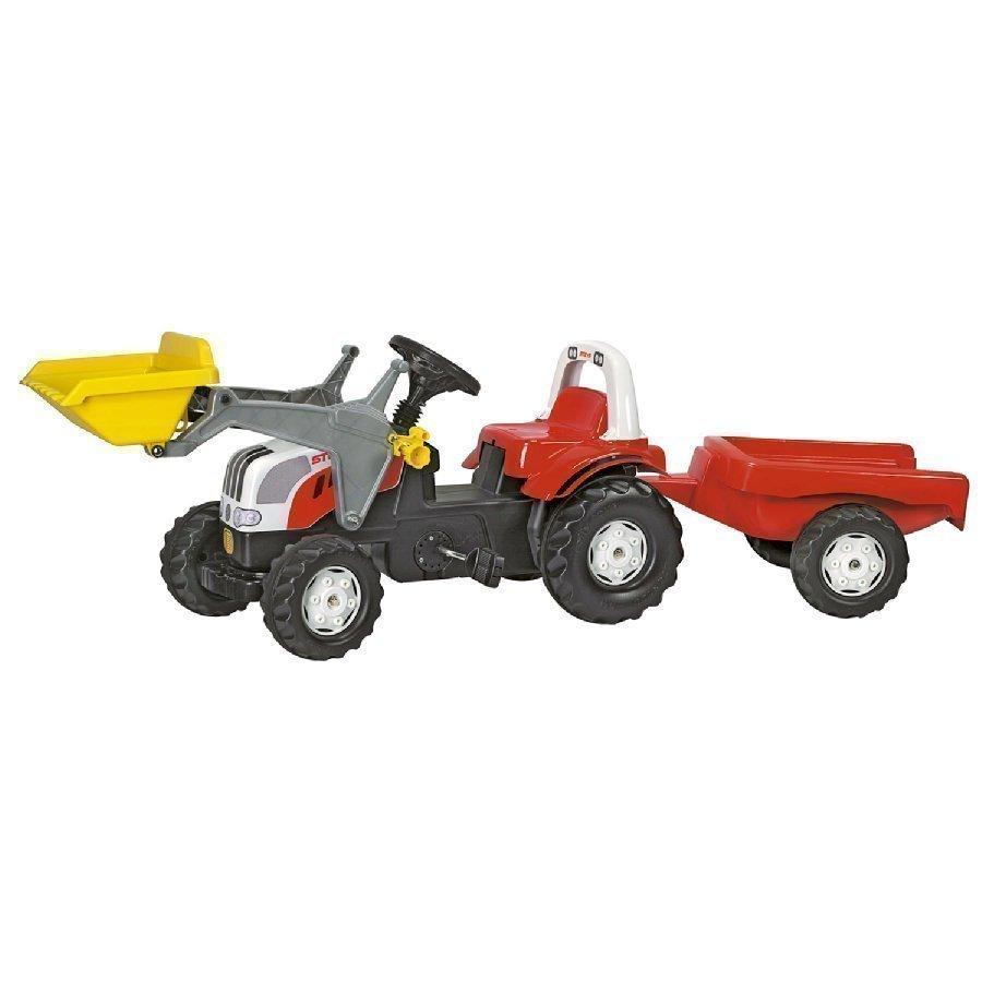 Rolly Toys Rollykid Traktori Steyr 6190 Cvt + Kauha Ja Peräkärry