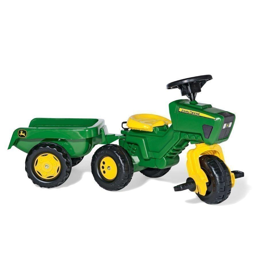 Rolly Toys Rollytrac Traktori Peräkärryllä Ja Ääniratilla John Deere 052769