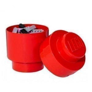 Room Copenhagen Pyöreä Lego Säilytyslaatikko 1 Punainen