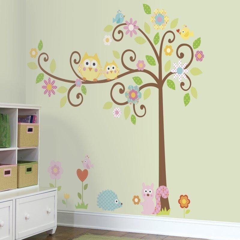 RoomMate Seinäsiirtokuva Puut & Eläimet