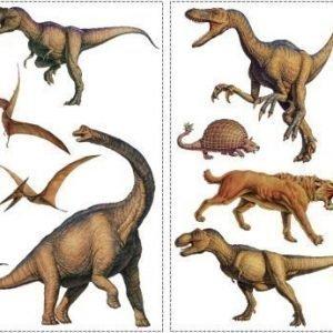 RoomMates Seinäsiirtokuva Dinosaurukset
