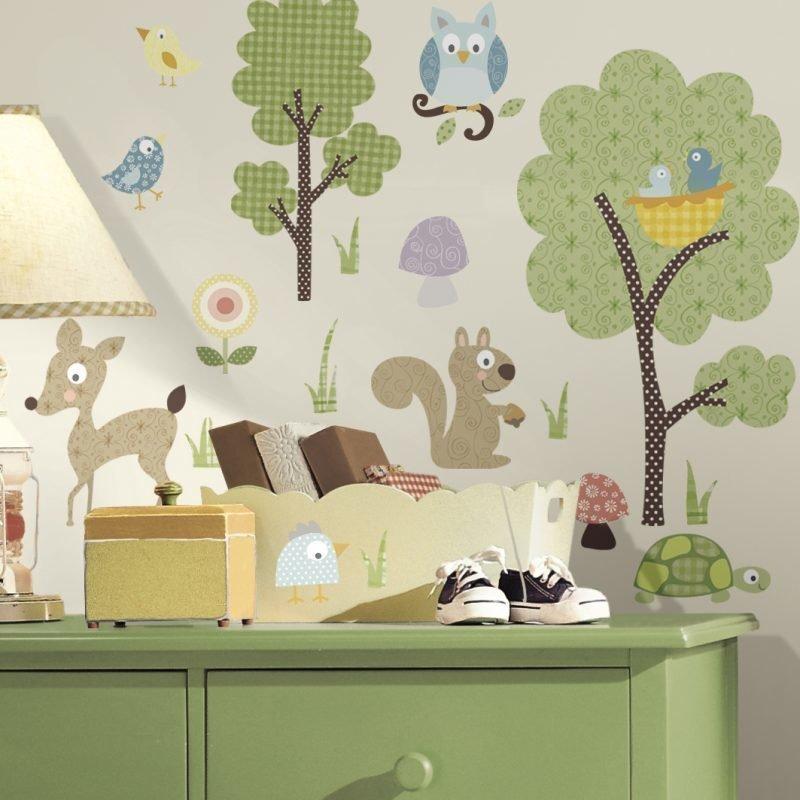 RoomMates Seinäsiirtokuva Eläimet & Metsä