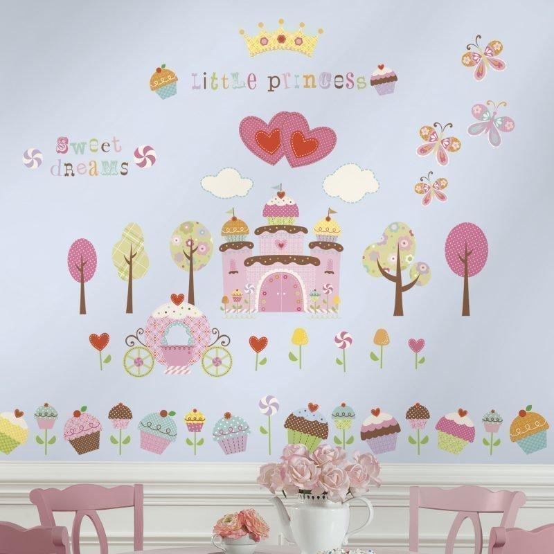 RoomMates Seinäsiirtokuva Linna Cupcake
