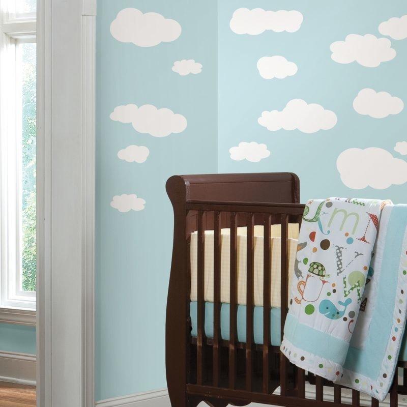 RoomMates Seinäsiirtokuva Pilvi Valkoinen