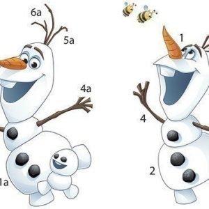 RoomMates Seinätarra Disney Frozen Fever Olaf