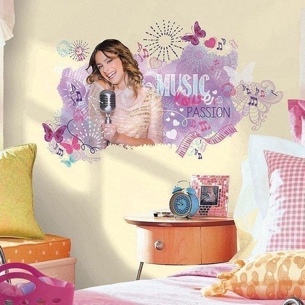 RoomMates Seinätarra Violetta Graphic