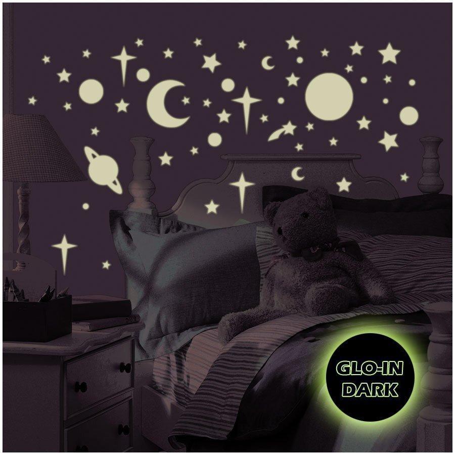 Roommates Seinätarra Tähtitaivas Loistaa Pimeässä Glow In The Dark
