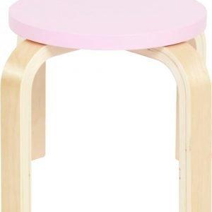 SG Furniture Jakkara 2 kpl Vaaleanpunainen/Koivu