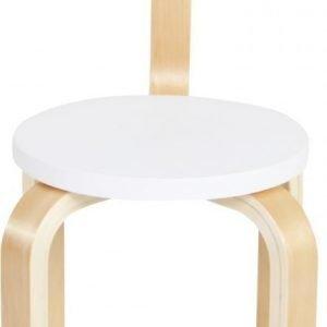 SG Furniture Tuoli Valkoinen/Koivu