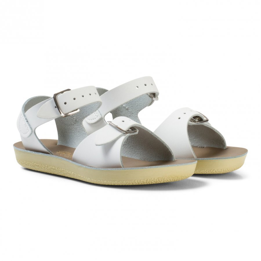 Salt-Water Sandals Surfer White Remmisandaalit