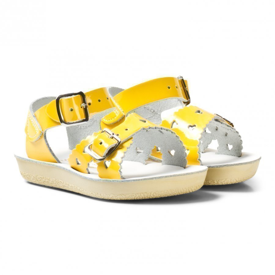 Salt-Water Sandals Sweetheart Premium Sandals Shiny Yellow Remmisandaalit