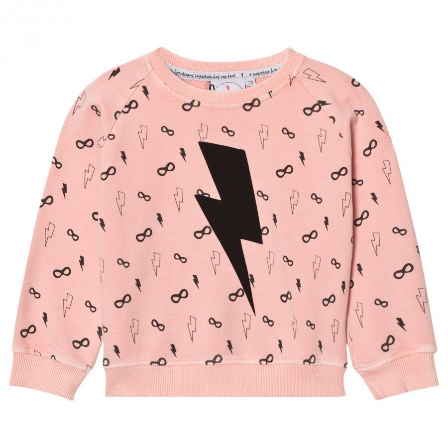 Scamp & Dude Cool Kid Sweatshirt Lightning Bolt Peach Oloasun Paita