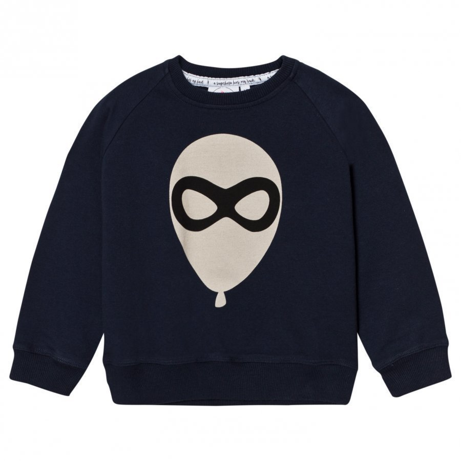 Scamp & Dude Cool Kid Sweatshirt Navy Blue Balloon Man Oloasun Paita