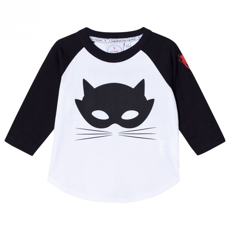 Scamp & Dude Super Charged Raglan Cat Mask Pitkähihainen T-Paita