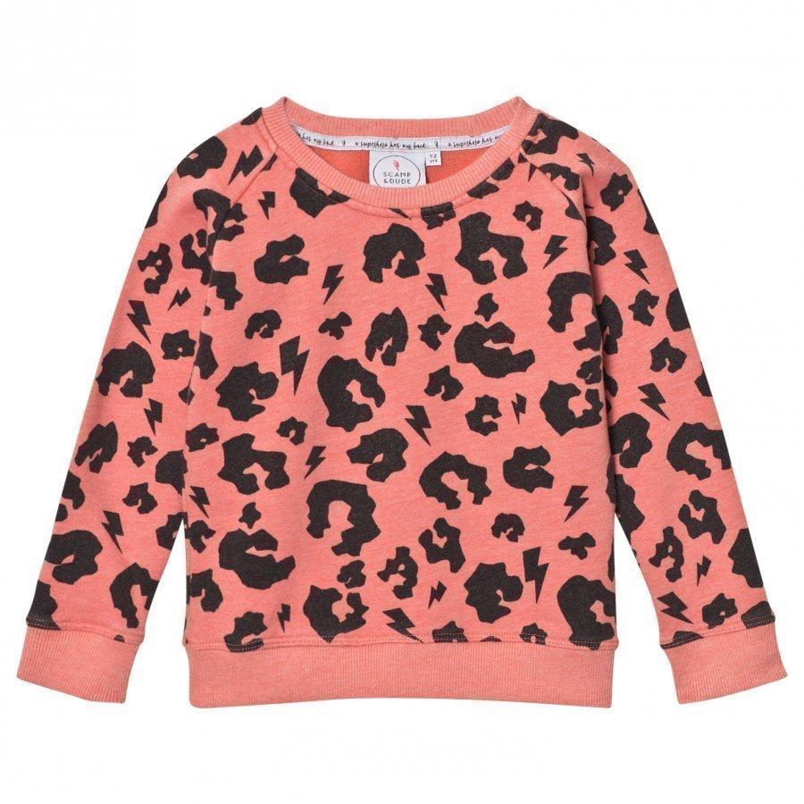 Scamp & Dude Super Soft Sweatshirt Coral Leopard Oloasun Paita