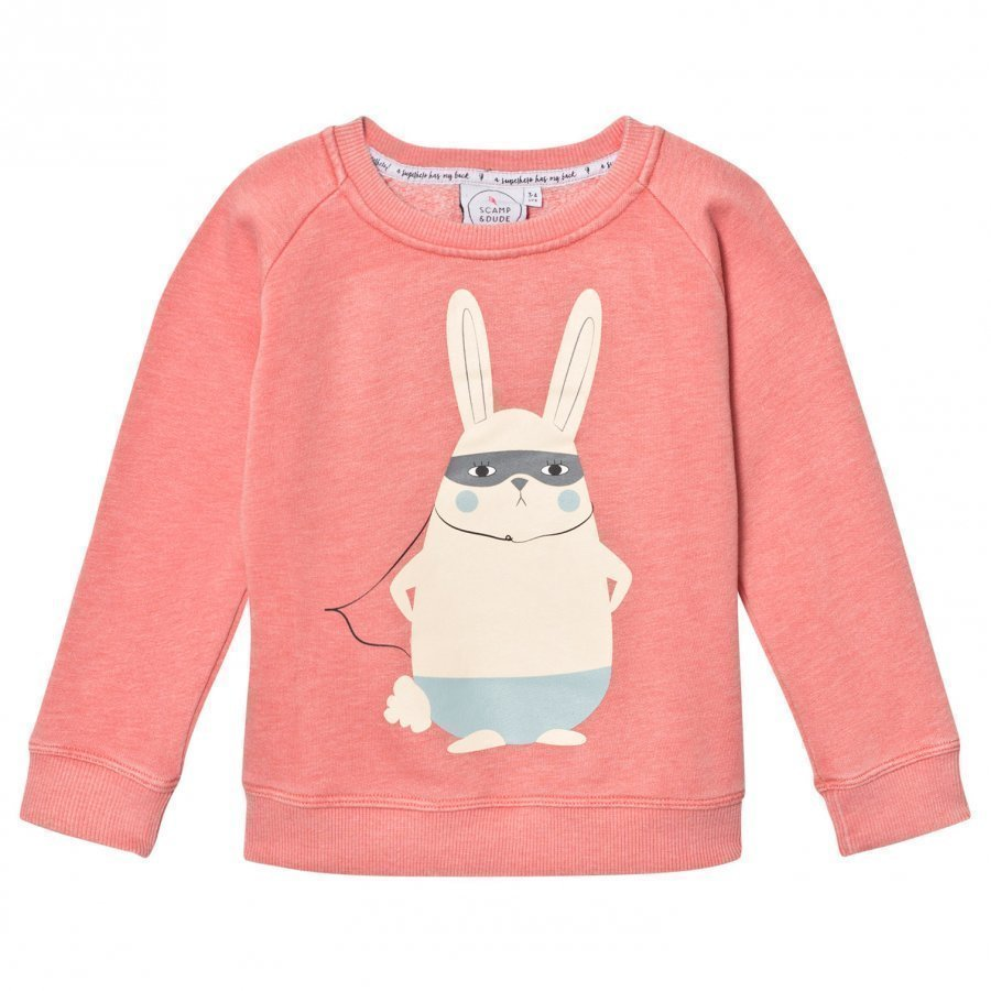 Scamp & Dude Super Soft Sweatshirt Coral Super Bunny Oloasun Paita