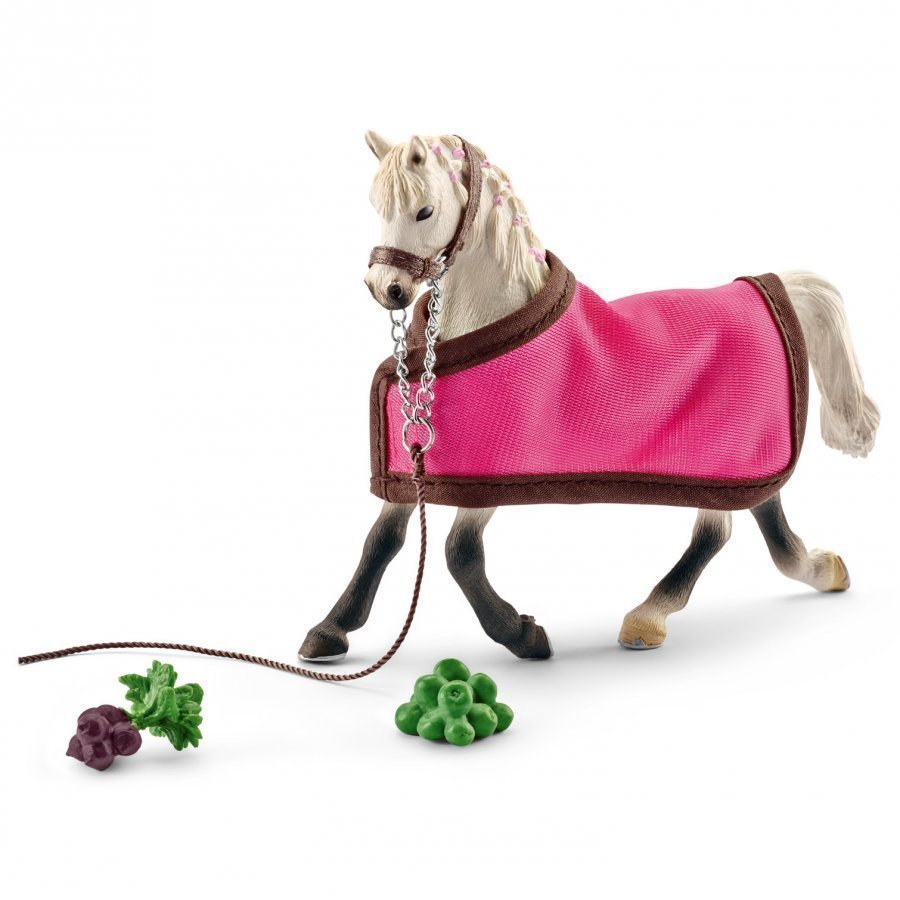 Schleich Arab Mare With Blanket Eläinhahmo