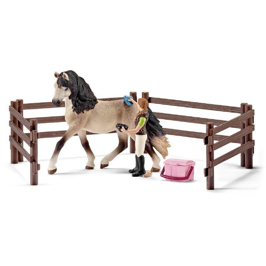 Schleich Farm Life Leikkisetti Hevosenhoitosetti Andalusialainen 42270