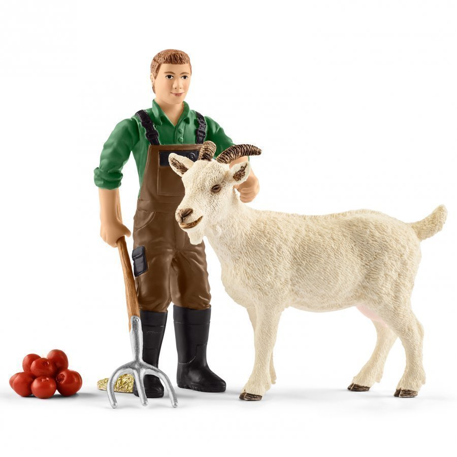 Schleich Farmer With Goat Eläinhahmo
