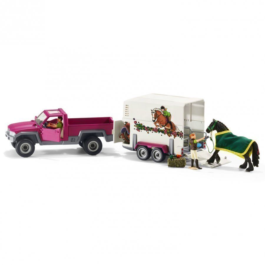 Schleich Pick Up With Horse Box Leikkisetti