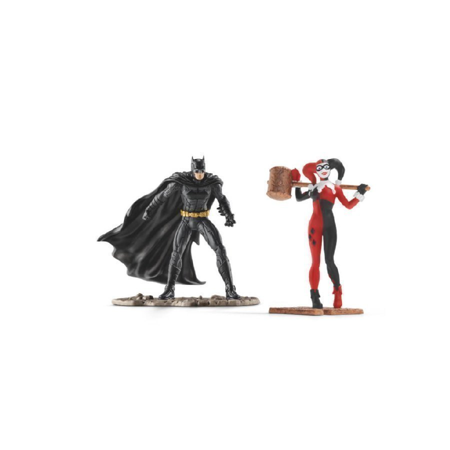 Schleich Scenery Pack Dc Comics Batman Vs. Harley Quinn 22514