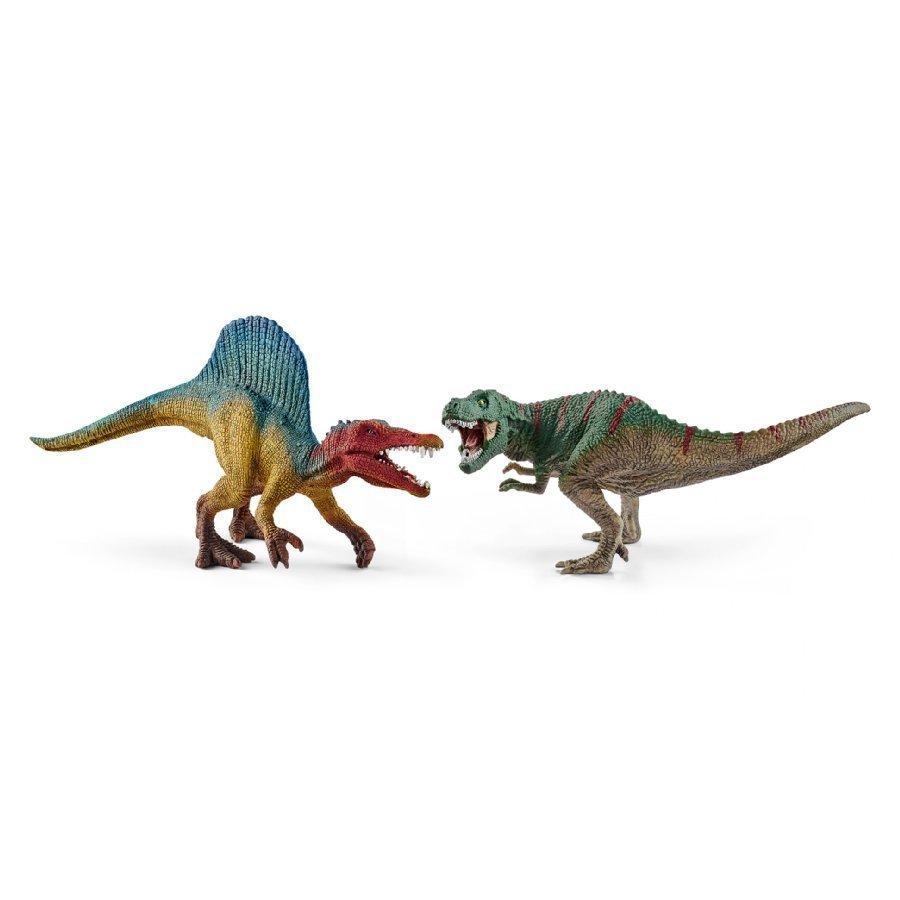 Schleich Spinosaurus Ja T Rex Pieni 41455