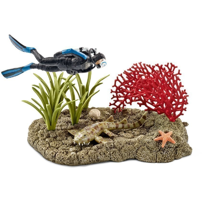 Schleich Sukeltaja Koralliriutalla 42328