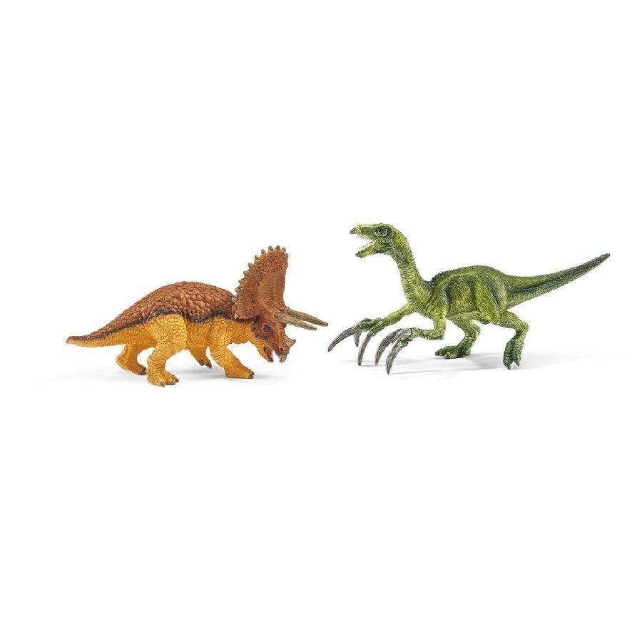Schleich Triceratops Ja Therizinosaurus Pieni 42217