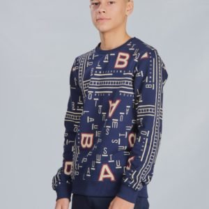 Scotch & Soda All Over  Printed Crewneck Sweat Neule Kirjava