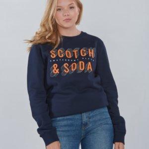 Scotch & Soda Basic Scotch & Soda Sweat Neule Sininen