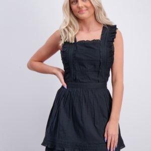 Scotch & Soda Cotton Ruffle Dress Mekko Musta